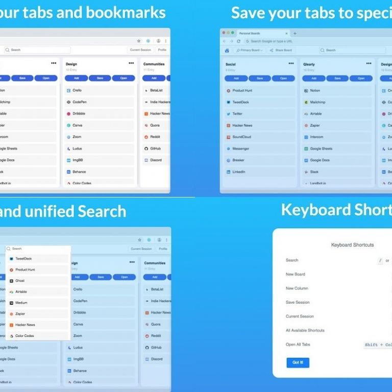 Organiza las pestañas y favoritos del navegador con esta herramienta