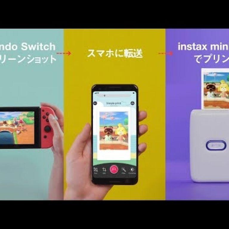 Fujifilm y Nintendo se unen en una colaboración que permite al Switch transferir imágenes para imprimirlas en Instax
