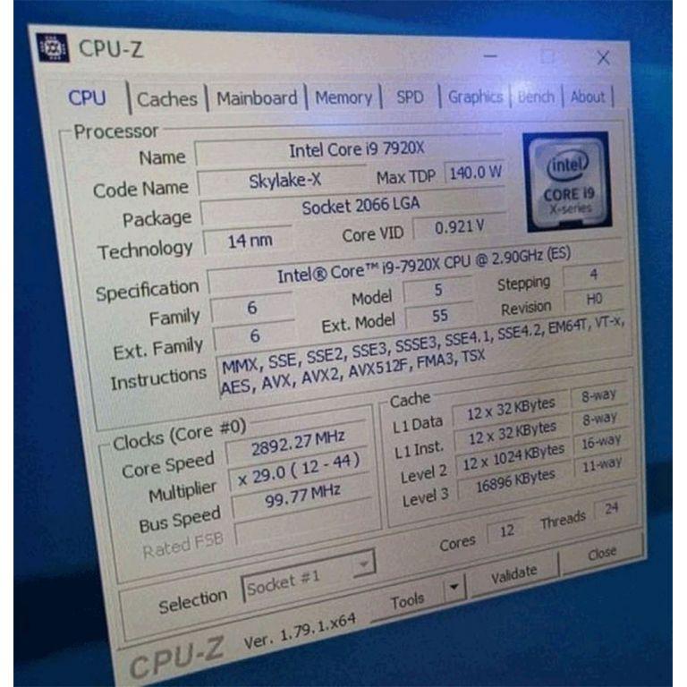 Filtración confirma la velocidad del Intel Core i9 de 12 núcleos