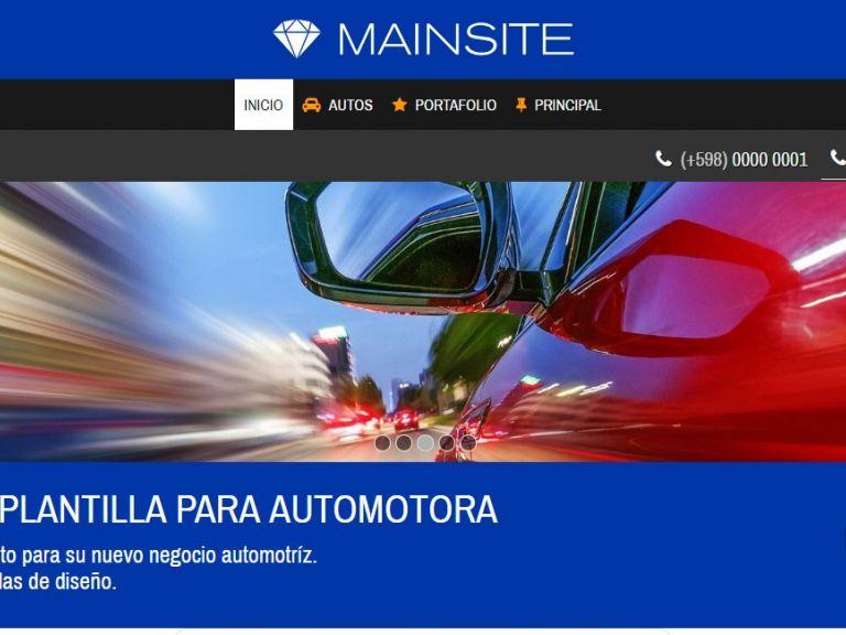 Automotora demo diseño 13. Template de diseño web profesional. - AUTOS 13 . Diseño sitio web automotora rentadora