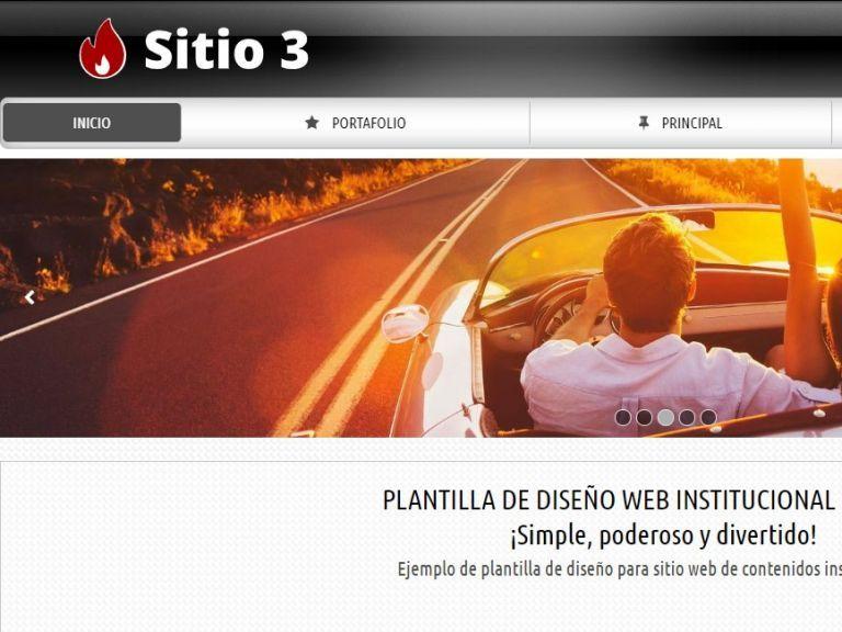 Plantilla de diseño de sitio web para proyecto de contenidos institucionales. - INSTITUCIONAL 3 . Diseño sitio web institucional