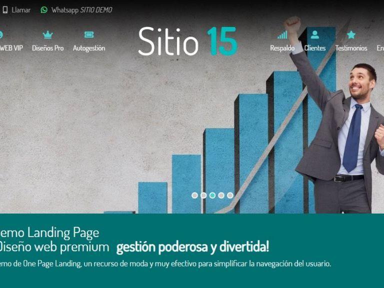 Ejemplo diseño web one page landing web. - LANDING 15 . Ejemplo diseño página web landing