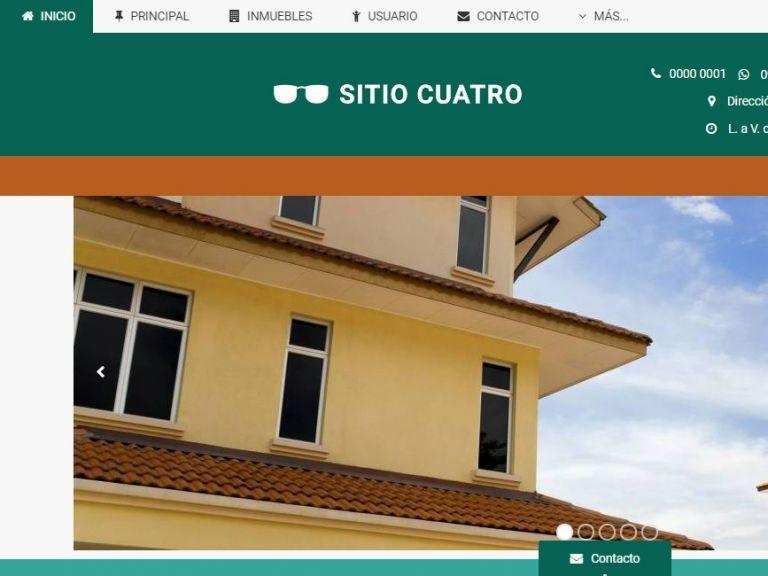 Opción de diseño de sitio inmobiliario. - DEMO 4 . Sitio web inmobiliario